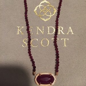 Kendra Scott Elisa beaded necklace in rose gold.